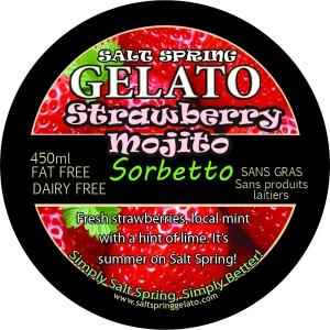 Strawberry Mojito Sorbetto