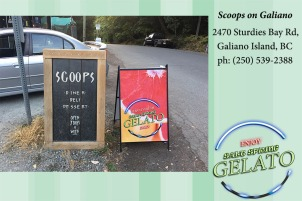 Scoops on Galiano